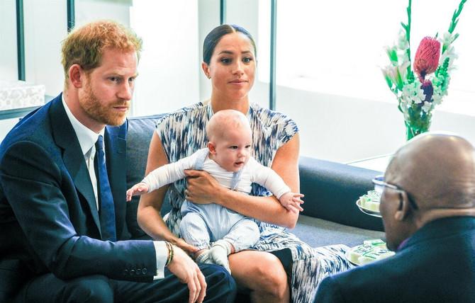 Megan Markl i princ Hari sa sinom Arlijem Harisonom u Africi prošle godine
