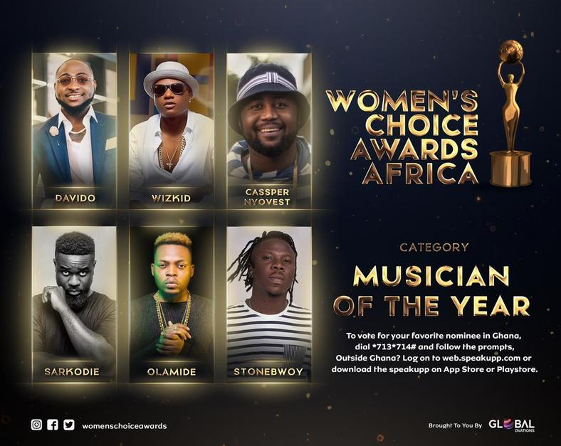 Oprah Winfrey, Wiyaala, Sarkodie, Yvonne Nelson, others nominated for Women's Choice Awards Africa