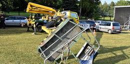Czworo dzieci runęło na ziemię na festynie. Jest akt oskarżenia
