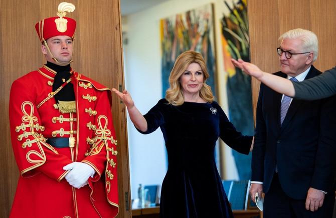 Predsednica Hrvatske Kolinda Grabar Kitarović sa predsednikom Nemačke Frank-Valterom Štajnmajerom u martu ove godine u Zagrebu