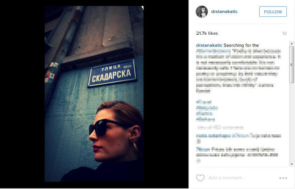 Stana Katić posetila je Beograd