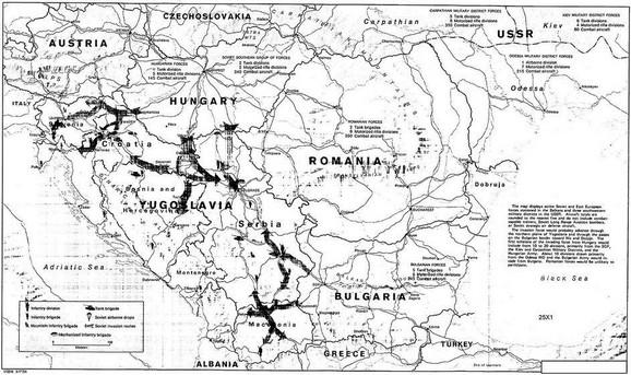 Jugoslavija SFRJ mapa