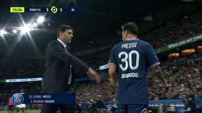 PSG - OL: remplacé, Messi snobe Pochettino