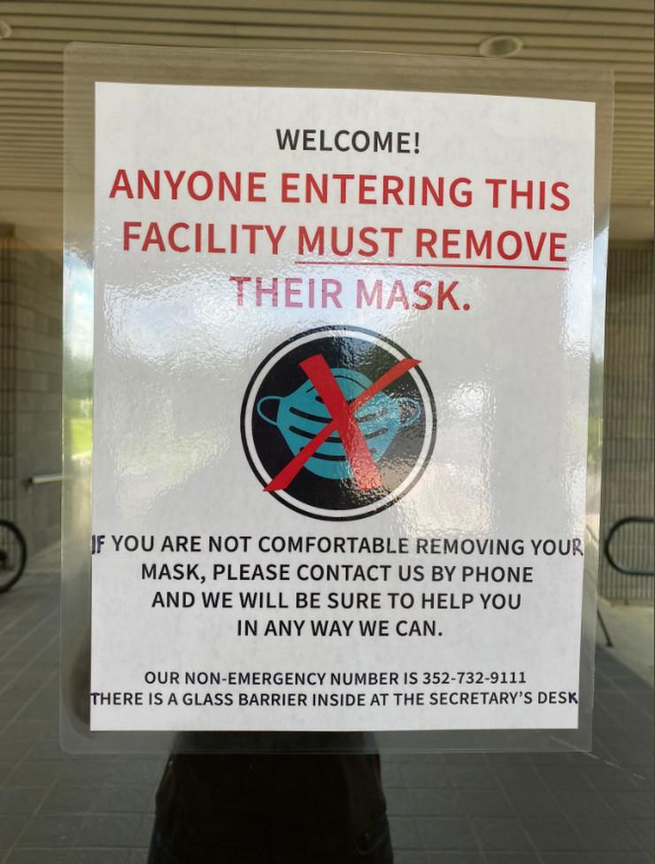 zabrana nošenja maski
