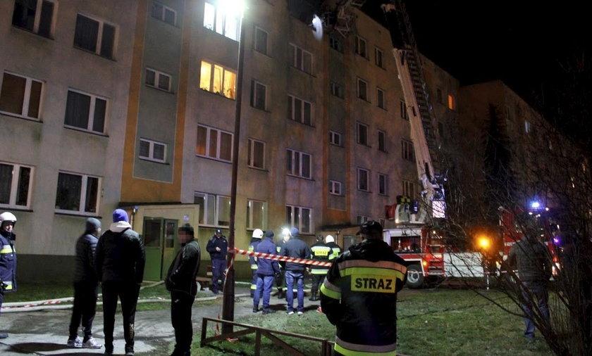 Dramatyczny pożar w Hrubieszowie