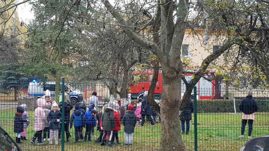 Ewakuacja przedszkola w Gorzowie