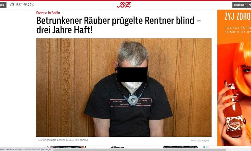 Polak Leszek S. pobił emerytowanego policjanta tak, że ten stracił wzrok.