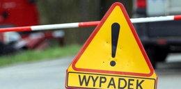 Wypadek autobusu z przedszkolakami. Droga zablokowana
