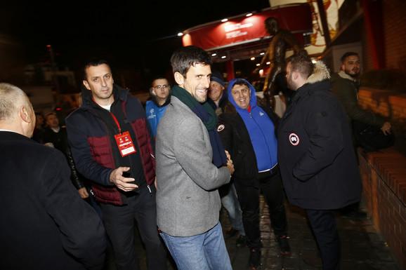 Novak Đoković stiže na Marakanu pred početak meča Zvezda - PSŽ