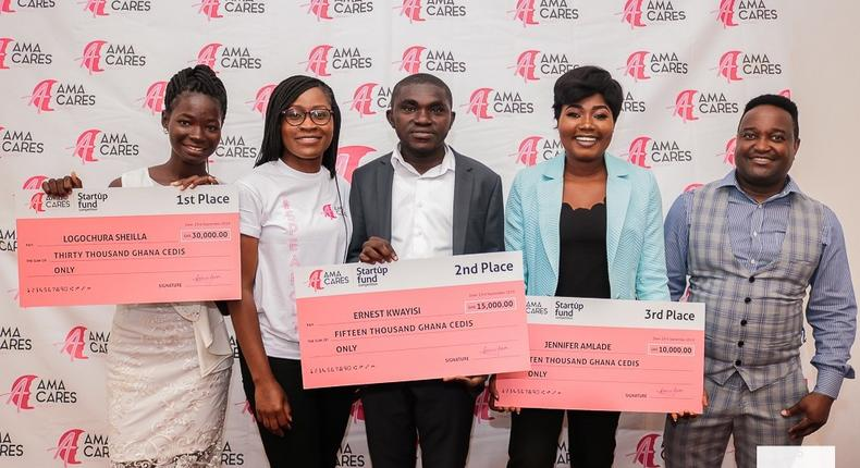 Three young Ghanaian entrepreneurs win GHc55k funding from AmaCares 'Start-up Fund' competition