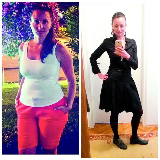 Jovana pre (70 kg) i posle (59 kg)
