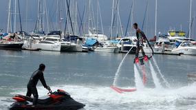 Flyboard - latanie na strumieniu wody