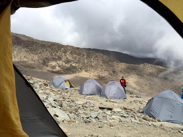 Obóz Barafu 4500 przed atakiem, fot. archiwum prywatne