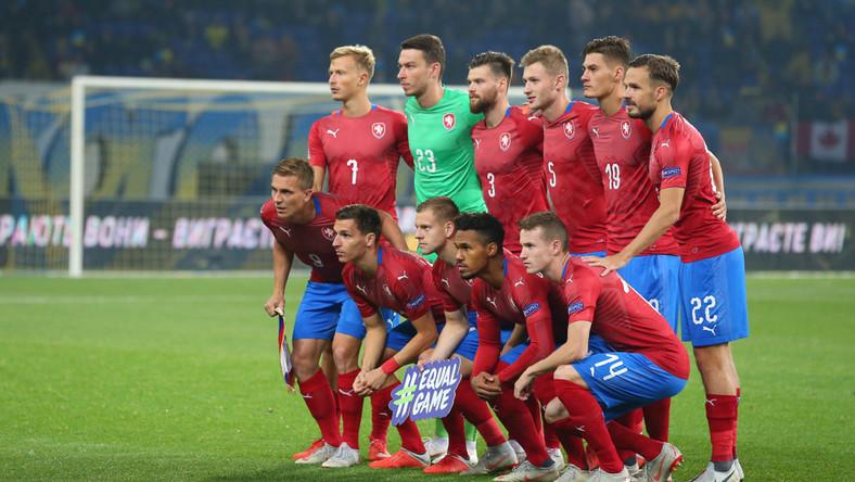 Reprezentacja Czech podczas meczu z Ukrainą w Charkowie w 2018 roku