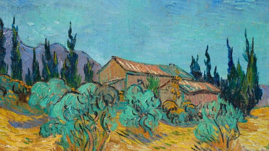 """Vincent van Gogh """"Drewniane domy wśród drzew oliwnych i cyprysów"""""""