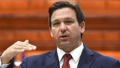 Florida Gov. Ron DeSantis let a man falsely claim the COVID vaccine 'changes your RNA' during an anti-vaccine mandate press conference