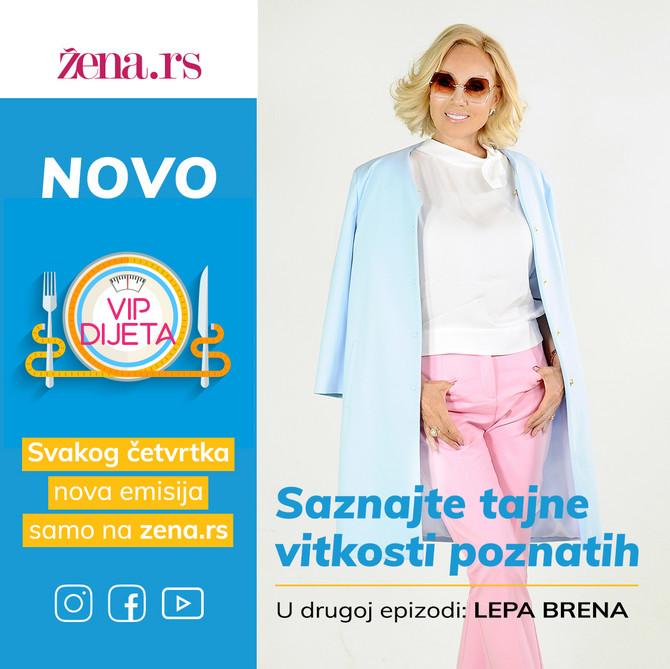 "EKSKLUZIVNO Gošća druge spizode ""VIP dijete"" sutra u 20 sati na portalu Žena rs je LEPA BRENA"