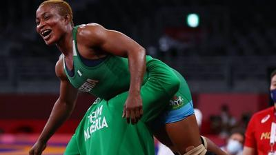 Nigeria gets a medal at Tokyo Olympics after Blessing Oborodudu made it to the final of a wrestling event