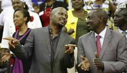 Gatundu South MP Moses Kuria and Deputy President William Ruto at a past function
