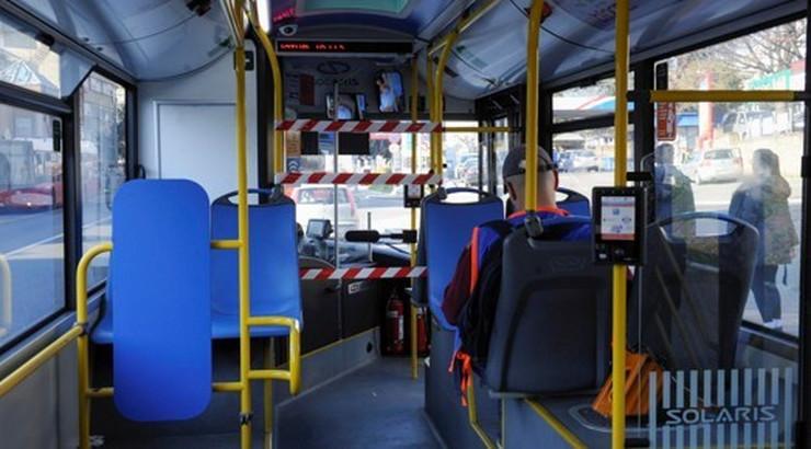 Autobus GSP prazan