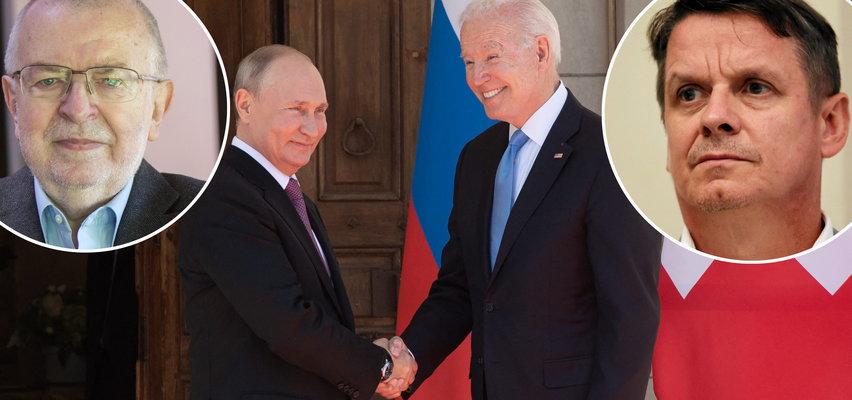"""Po szczycie Putin-Biden eksperci mówią, że jeden był """"bezczelny i łgał"""", a drugi zachował się """"niepoważnie"""". Tak uważa prof. Lewicki. Ale jest też odmienna opinia prof. Przebindy"""