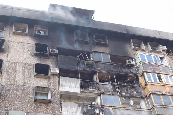 Požar na Novom Beogradu