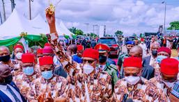 President Muhammadu Buhari visits Imo state. (Channels)