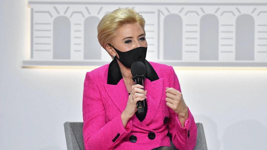 Kontuzja Agaty Kornhauser-Dudy. Nowe informacje w sprawie stanu zdrowia pierwszej damy