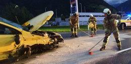 Wypadek Polaków w Austrii. Wszyscy byli pijani. Nie wiadomo, kto prowadził