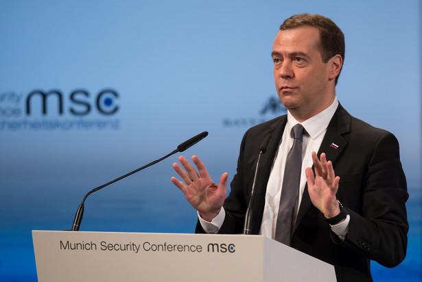 Rosyjski premier Dmitrij Miedwiediew w Monachium