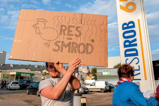 Protest mieszkańców Rzeszowa przeciwko działalności firmy Res-Drob, 2017 r.