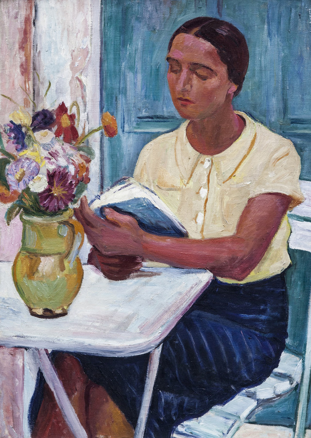 Olga na terasi, 1938. Legat Muzeja savremene umetnosti