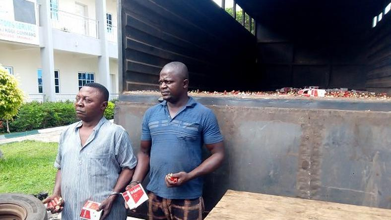 Suspects caught with thousands of cartridges