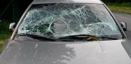 Horror na autostradzie. Tafla lodu z TIR-a raniła kobietę