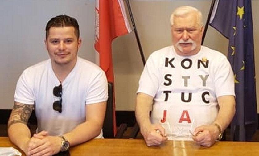 Rafał Collins i Lech Wałęsa.