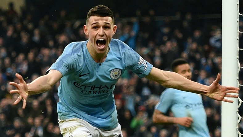 Manchester City midfielder Phil Foden celebrates after scoring against Rotherham in the FA Cup