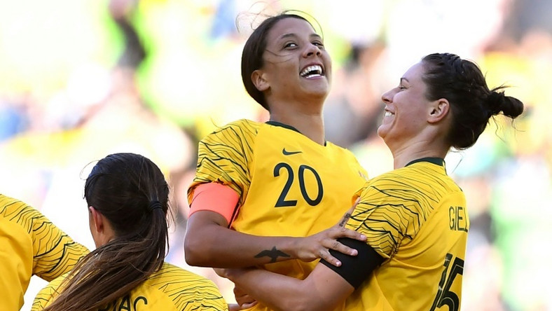 Sam Kerr (centre) will captain an experienced Australia squad at the Women's World Cup