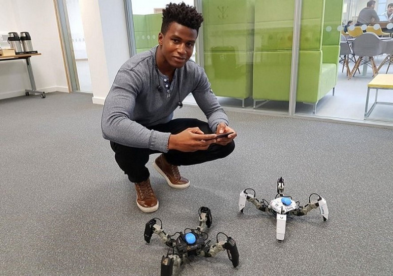 Silas Adekunle created the world's first intelligent gaming robot