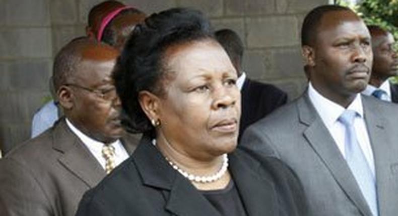 Margret Saitoti, Margret Saitoti, widow of the former Cabinet Minister