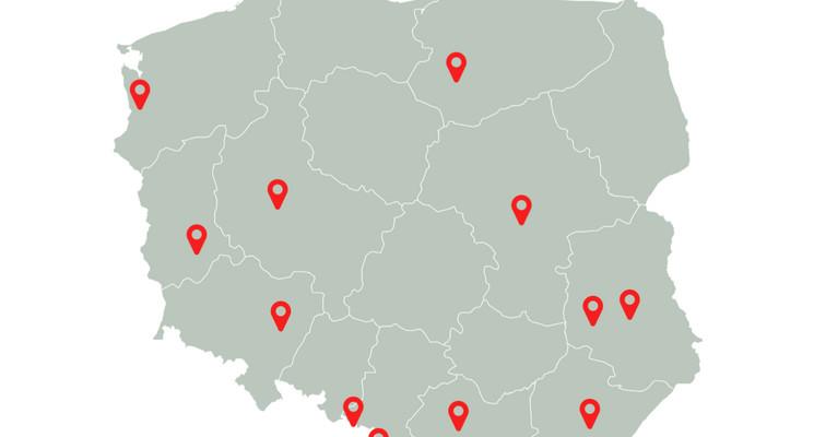 Przypadki koronawirusa w Polsce