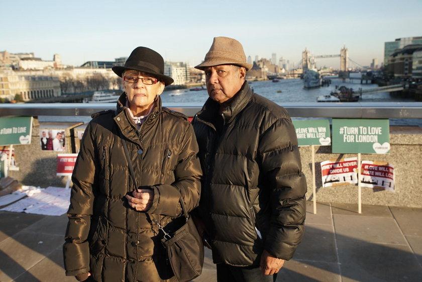 Sheena (69 l.) i Clive Francis (70 l.), emeryci z Londynu