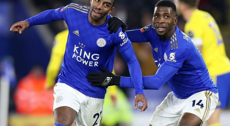 Nigerian Players Abroad: Wilfred Ndidi and Kelechi Iheanacho in action for Leicester City's win in the FA Cup