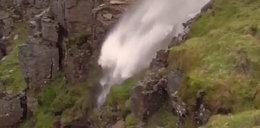 Wodospad, który płynie do góry. Niezwykłe zjawisko wystąpiło w Australii