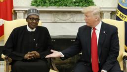 Nigeria's President Muhammadu Buhari and former US President Donald Trump