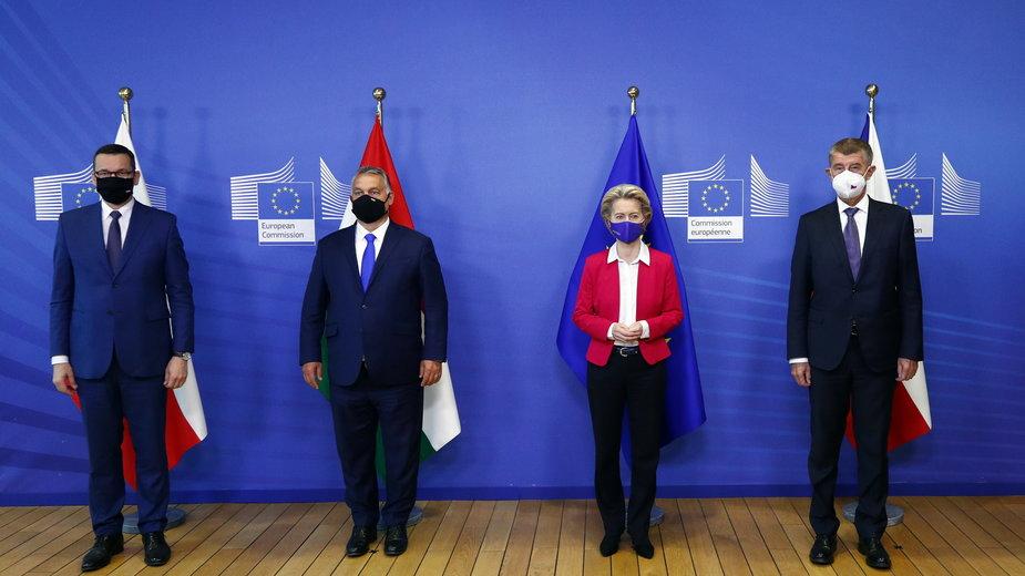 Premierzy Polski, Węgier i Czech spotkali się z szefową Komisji Europejskiej