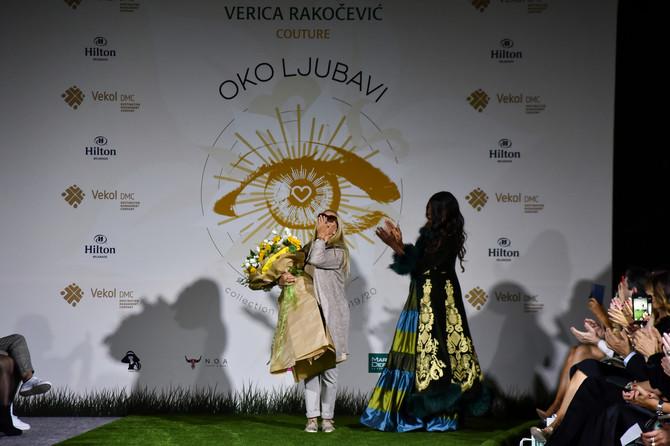 Verica Rakočević Kuzmančević na kraju revije sa specijalnom gošćom iz Italije