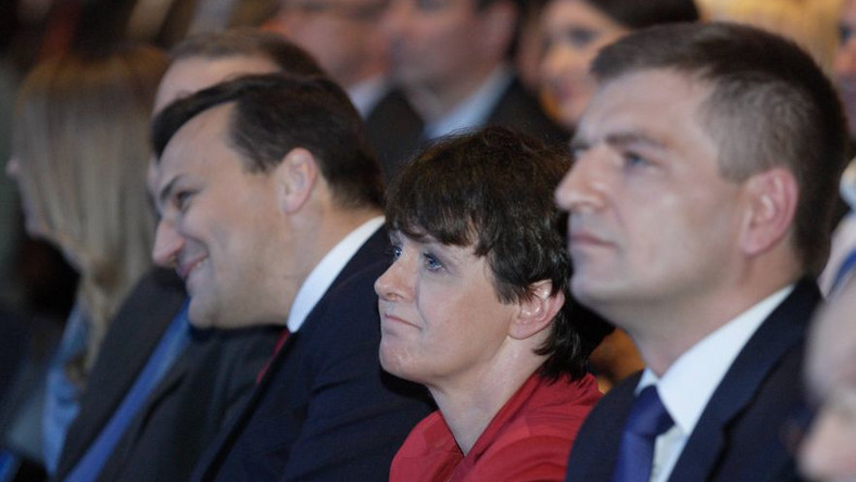 Joanna Kluzik-Rostkowska na konwencji PO