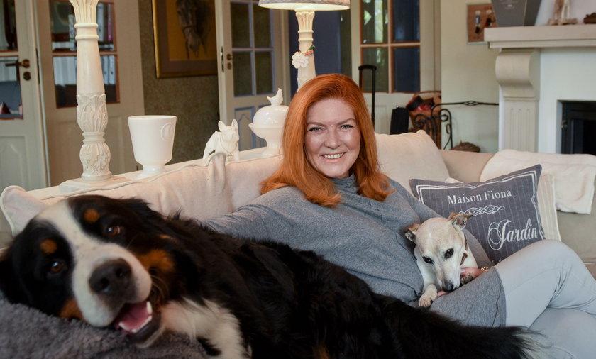 Katarzyna Dowbor w swoim domu