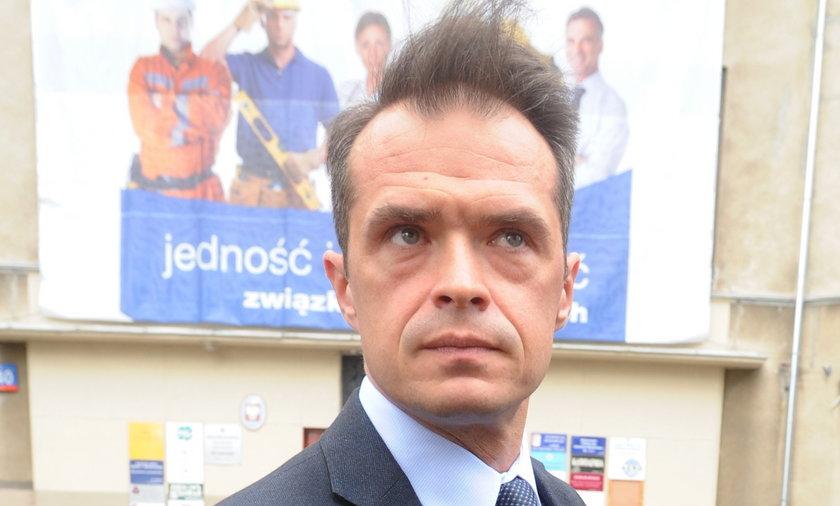 Minister Sławomir Nowak z bujnymi włosami