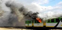 Groza! Pożar w pociągu pod Warszawą. FILM